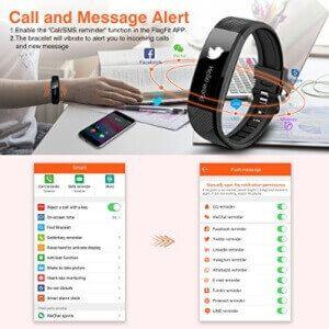 Notificaciones, Apps de pulsera de actividad