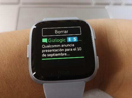 Notificaciones smartwatch