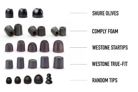 Tipos de almohadillas auriculares in ear